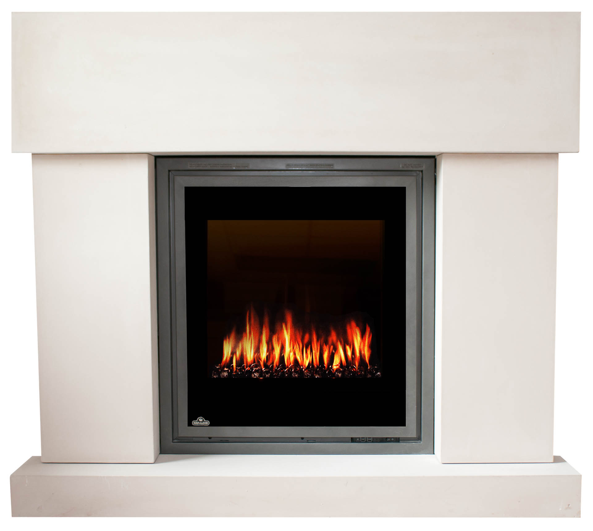 Fireplace world white electric fireplace lowes for Ramsey fireplace